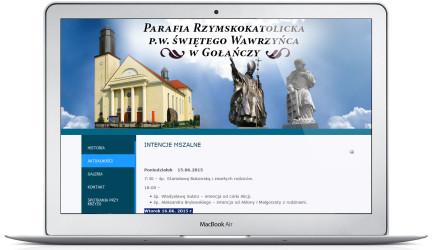 Strona internetowa Parafii Gołanieckiej