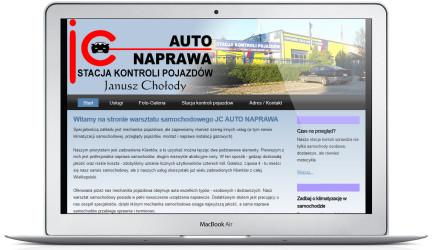 Strona www warsztatu i stacji kontroli pojazdów